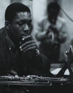 John Coltrane, 1958, Columbia Recording Studios, NY. Photo by Don Hunstein.