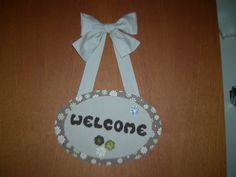 Welcome de tecido