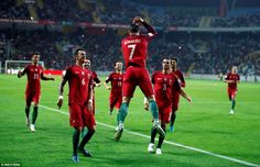The Portugal talisman marked his first goal with his trademark celebration against Andorra in Aveiro
