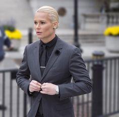This woman's Suit game is stronger than many men's #FIERCE #AshlynHarris #jealous