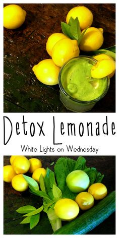 Every once in a while it is a great idea to try a detox drink. This Detox Lemonade sounds delicious!    White Lights on Wednesday