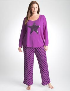 Full Figure Sequin Pajama Set by Cacique 423335fec