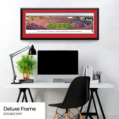 """NCAA Oklahoma Sooners 18/"""" x 22/"""" Sports Photograph Beautifully Framed and Double Matted"""