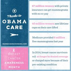 I can no longer be denied health care insurance due to a pre-existing condition. Thank you, Obama!