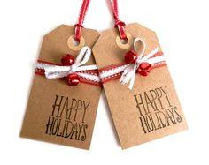 add tiny jingle bells to Christmas gift tags