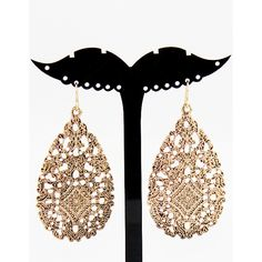 7d48f85a26 Fashion Vintage Gold Hollow Out Earring ❤ liked on Polyvore featuring  jewelry, earrings, yellow gold earrings, vintage gold jewelry, yellow gold  jewelry, ...