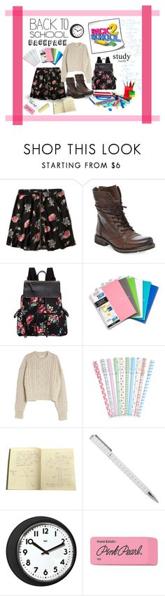 """Back to School Outfit"" by abbyd900 ❤ liked on Polyvore featuring Abercrombie & Fitch, Steve Madden, Madden Girl, Étoile Isabel Marant, Universal Lighting and Decor and Paper Mate"