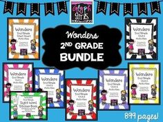 This huge bundle includes activities for Wonders 2nd Grade Units 1-6, plus Start Smart AND a Sight Word Sticker Book including all the High Frequency words for the year!!