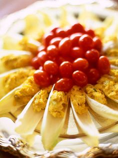 Retro Hors d'Oeuvres-Belgian Endive with Curried Crab Salad