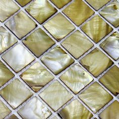 Yellow-Gray Mother of Pearl Tile Per Sheet, Stained Shell Mosaic Backsplash Tiles for Kitchen and Bathroom Walls Stone Mosaic, Mosaic Glass, Shower Accent Tile, Glass Tile Backsplash, Kitchen Backsplash, White Mosaic Tiles, Steel Panels, Tile Design, Etsy
