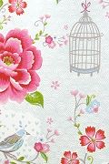 PiP Birds in Paradise Wit behang | PiP Studio ©