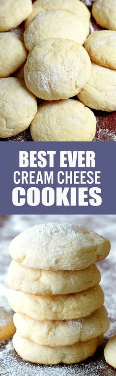 Soft, chewy, irresistible Crem Cheese Cookies and did I mention EASY?
