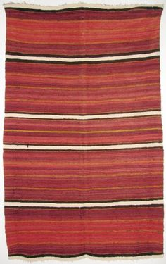 Shiprock // Rio Grande Navajo Textile Navajo Weaving, Navajo Rugs, Southwest Decor, Southwestern Style, Native American Rugs, Interior Design Process, Indian Blankets, Rug Inspiration, Striped Rug