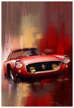 """Memorie Italiano"" Ferrari 250 SWB Artwork/Painting . Limited Edition prints available"