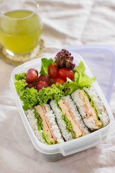 Onigirazu rice sandwich Easy to make a BLT
