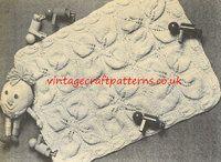 Big Leaf - baby pram blanket - vintage knitting pattern