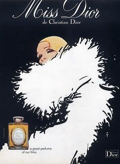 Flurry of Feathers - These Vintage Dior Ads Are Too Pretty for Words - Photos