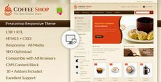 Responsive #Website Theme for #Coffee, #Chocolate, #cake or #Food #Store #webdesign #webdev #Prestashop #shop #template #theme ->