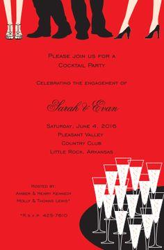 Cocktail Ankles Invitation | Zurianas Elegant Occasions