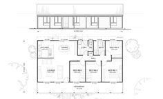 Met Kit Homes Floor Plans Blaxland 3 Affordable Budget Steel Frame Australia Wide
