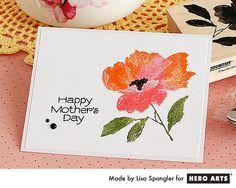 Hero Arts Cardmaking Idea: Happy Mothers Day Flower