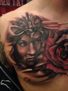 Tattoo by: Josh Fields www.platinumrosestudio.com