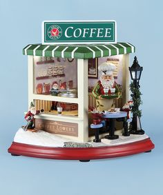 Santa's Coffee Shop Music Box from The Holiday Barn