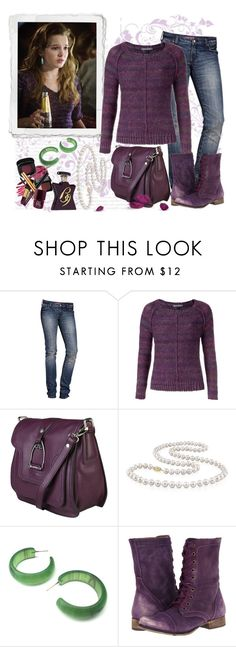 """Dress in Berry"" by michi-bruce ❤ liked on Polyvore featuring H&M, Tommy Hilfiger, LA MARTINA, Miadora, Steve Madden and Bond No. 9"