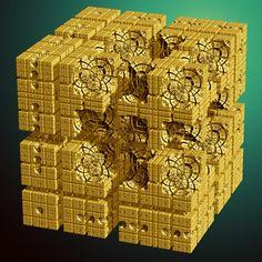 le Mandelbox « Julia » ou le Juliabox pour (−4,−4,4)