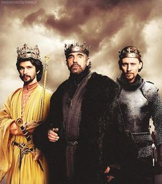 Three English Kings: Ben Whishaw as Richard II, Jeremy Irons as Henry IV, Tom Hiddleston as Henry V.