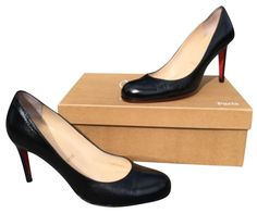 Christian Louboutin Simple 85 Black Leather Eu 36.5 Us 6.5 Pumps. Get the must-have pumps of this season! These Christian Louboutin Simple 85 Black Leather Eu 36.5 Us 6.5 Pumps are a top 10 member favorite on Tradesy. Save on yours before they're sold out!