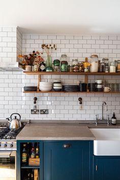 Home Tour: Tiny & The House - The Frugality Kitchen Interior, Kitchen Design, Kitchen Layout, Room Interior, Interior Ideas, Kitchen Ideas, Interior Design, Pig Kitchen, Room Kitchen