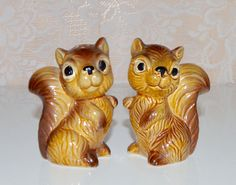 Squirrel Salt & Pepper Shakers Brown Squirrel Shaker by WVpickin
