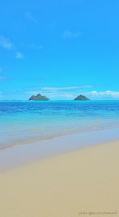 Lanikai Beach, Hawaii: Ocean view with Mokulua Islands seen from one of the best beaches in the world, as named by TripAdvisor
