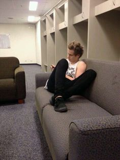 Imagine: Luke scrolling through his phone reading your old text messages because he misses you