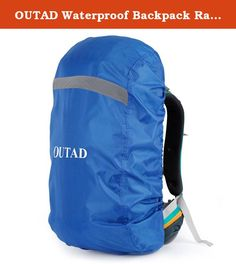 e8cd986373e0 OUTAD Waterproof Backpack Rain Cover With Reflective Strip Reflective strip  for high visibility in fog and pitch black darkness.