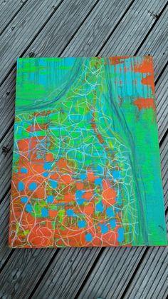 Acrylbild Good Time 60x70x4 cm XL-Leinwand von abstractartmoewchen