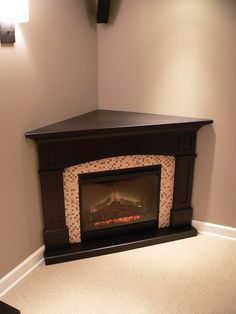 "A Gorgeous Dimplex 26"" Plug-In #Electric Fireplace for corners or small spaces"