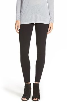 Liking the open bootie as a transition-into-Fall shoe. Splendid+Stretch+Cotton+Leggings+available+at+#Nordstrom