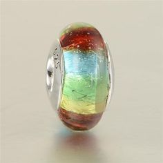 Rainbow Murano Glass Bead 925 Sterling Silver. Click Picture to Purchase. https://liftingtheworld.com/collections/charms?page=8