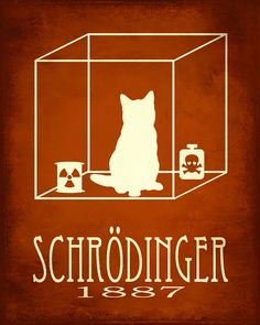 Items similar to Schrodinger's Cat - Science Art Print, Schrodinger Quantum Mechanics, Steampunk Rock Star Scientist Physics Poster, Geek Decor on Etsy Science Gifts, Science Activities For Kids, Science Quotes, Science Art, Physics Poster, Schrodingers Cat, Geek Decor, Cat Art Print, Quantum Physics