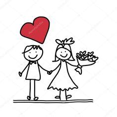 cartoon wedding couple ile ilgili görsel sonucu