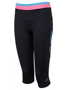 Ronhill Women's Aspiration Contour Running Capri - Black/Rose, Size 12  Price…