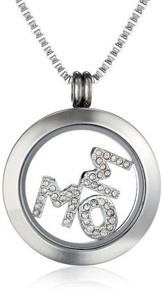 Charmed Lockets Crystal Mom Pendant Necklace Floating Charm Set, 24' >>> You can find out more details at the link of the image. (This is an affiliate link and I receive a commission for the sales)