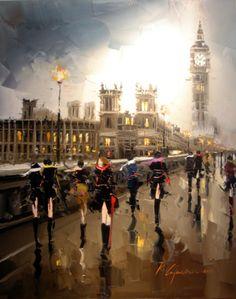 [London - Painted by Kal Gajoum] Make London Thank you mini paintings