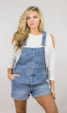 Free People Short Relax Shortall Dungarees, Overalls, Denim Shorts, Overall Shorts, Hemline, Free People, Relax, Jumpsuit, Random