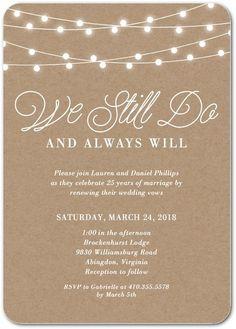 Rustic Backyard - Signature White Vow Renewal Invitations - Magnolia Press - Wood - Brown : Front
