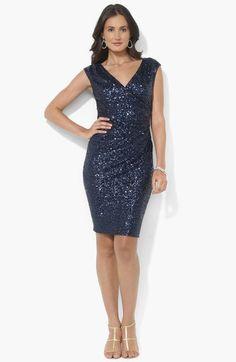 Lauren Ralph Lauren Cap Sleeve Sequin Dress available at #Nordstrom