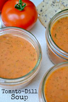 Creamy Tomato-Dill Soup   ☀CQ #soup #stews #chili #recipes