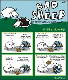 Bad Sheep by Cookingham. Love this snarly humor. Sheep Puns, Close Shave, Are You Ok, Chor, Bad Boys, I Laughed, Adventure, Comics, Books